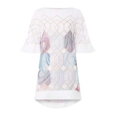 Ted Baker Sea of Clouds beach cover up, White