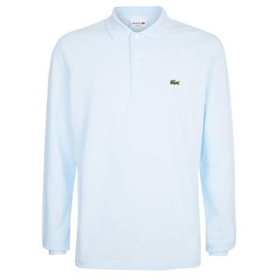 Men's Lacoste Long sleeved classic polo, Blue