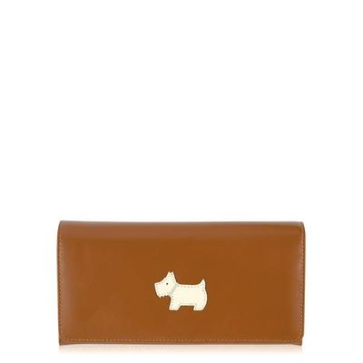 Radley Heritage dog tan large flapover purse, Tan