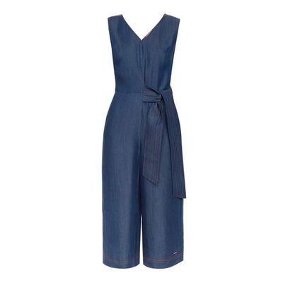 Ted Baker Pipere Stitch Detail Jumpsuit, Denim Mid Wash