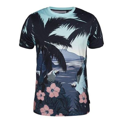 Men's Ted Baker Perdrop Tropical Print Cotton T-Shirt, Blue