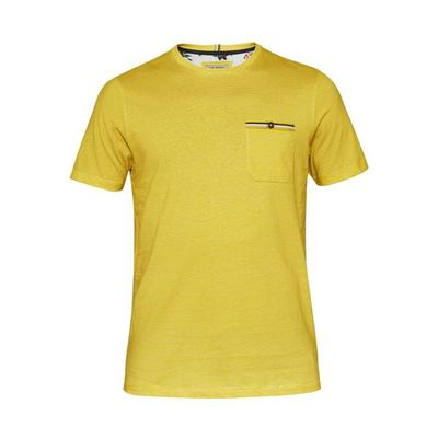 Men's Ted Baker Pikmix Striped Cotton T-Shirt, Yellow