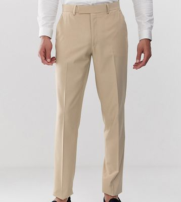 ASOS DESIGN Tall slim suit trousers in camel