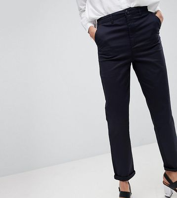 ASOS DESIGN Tall chino trousers in navy