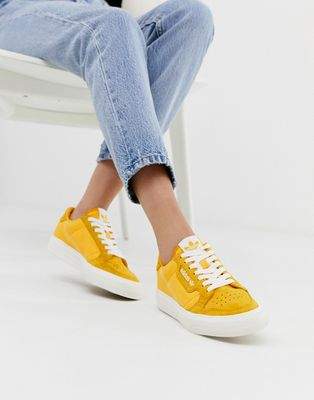 adidas Originals Continental 80 Vulc trainers in mustard