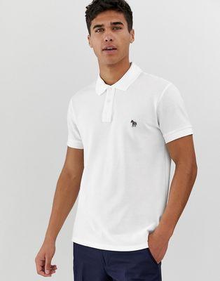 PS Paul Smith slim fit zebra logo polo in white