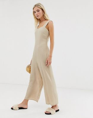 Glamorous minimal jumpsuit with button back straps