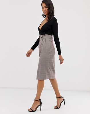 Closet pleated pencil skirt