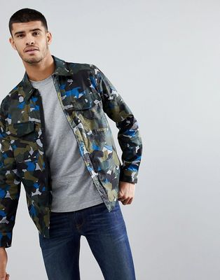 PS Paul Smith cotton camo jacket in green