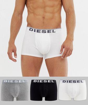 Diesel 3 pack cotton stretch trunks in multi