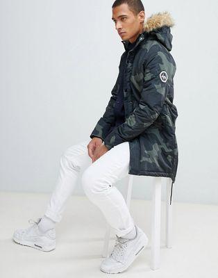 Hype parka jacket in camo
