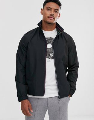 PS Paul Smith funnel neck lightweight zip through jacket in black