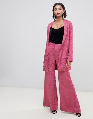 For Love & Lemons Lara wide leg trousers in paisley