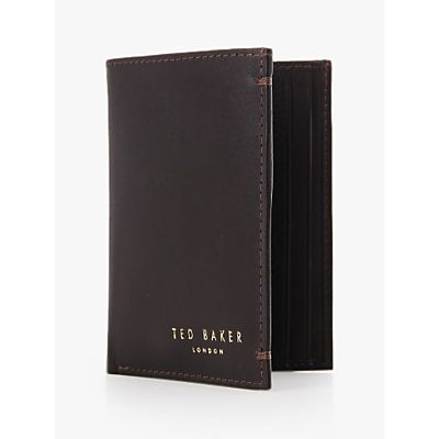 Ted Baker Zacks Credit Card Holder, Dark Brown