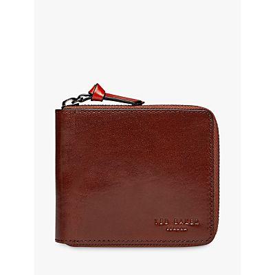 Ted Baker Kerola Leather Zip Card Wallet, Navy