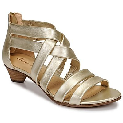 Clarks  MENA SILK  women's Sandals in Silver