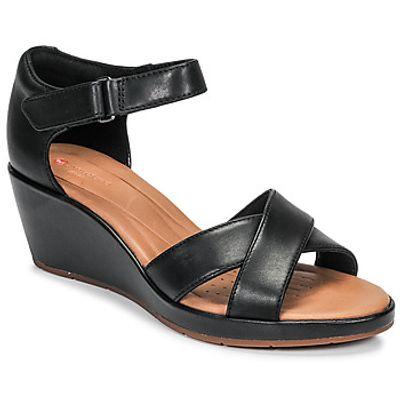 Clarks  UN PLAZA CROSS  women's Sandals in Black