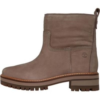 Timberland Womens Courmayeur Faux Fur Lined Boots Taupe Grey