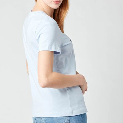 Tommy Hilfiger Women's TH Essentials Hilfiger Regular T-Shirt - Breezy Blue