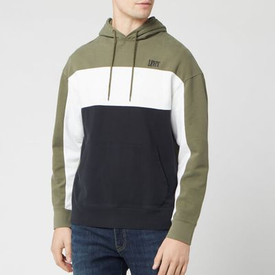 Levi's Men's Colorblock Hoodie - Olive Night