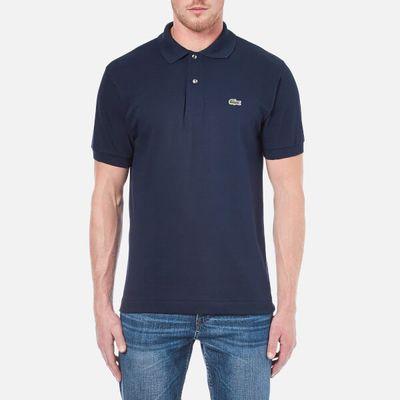 Lacoste Men's Basic Pique Short Sleeve Polo Shirt - Navy