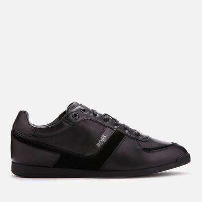 BOSS Men's Maze Low Profile Leather Trainers - Black