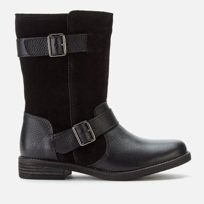 Clarks Women's Demi Flow Biker Boots - Black