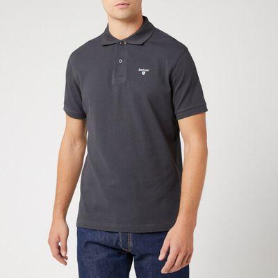 Barbour Men's Tartan Pique Polo Shirt - Navy/Dress