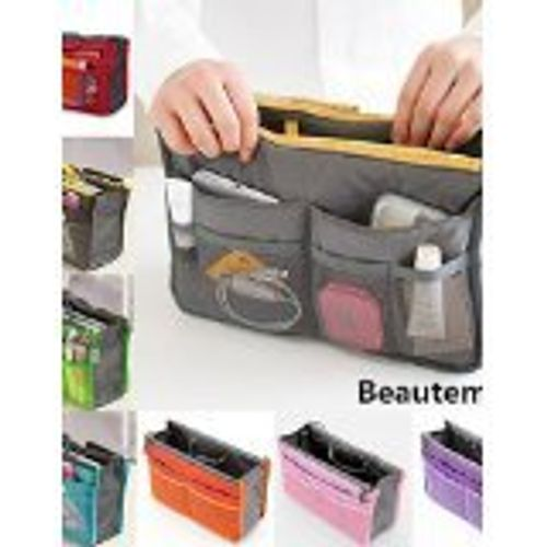 photo Wallpaper of Bad-Accessoires ShangYi-ShangYi Damenmode Lässig Multifunktionale Netz Kosmetik Make Up Tasche Lagerung Taschenorganisator (7 Farbe-Gray
