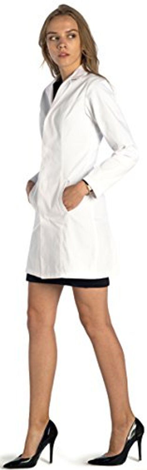 photo Wallpaper of Dr. James-Dr. James Taillierter Slim Fit Laborkittel Für Damen DE 18 E, Größe EU-Weiß