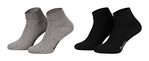 photo Wallpaper of Piarini-Piarini 8 Paar Kurze Socken Kurzsocken Quarter Socken Für Damen Herren Kinder | Dünn,-4xgrau 4xschwarz