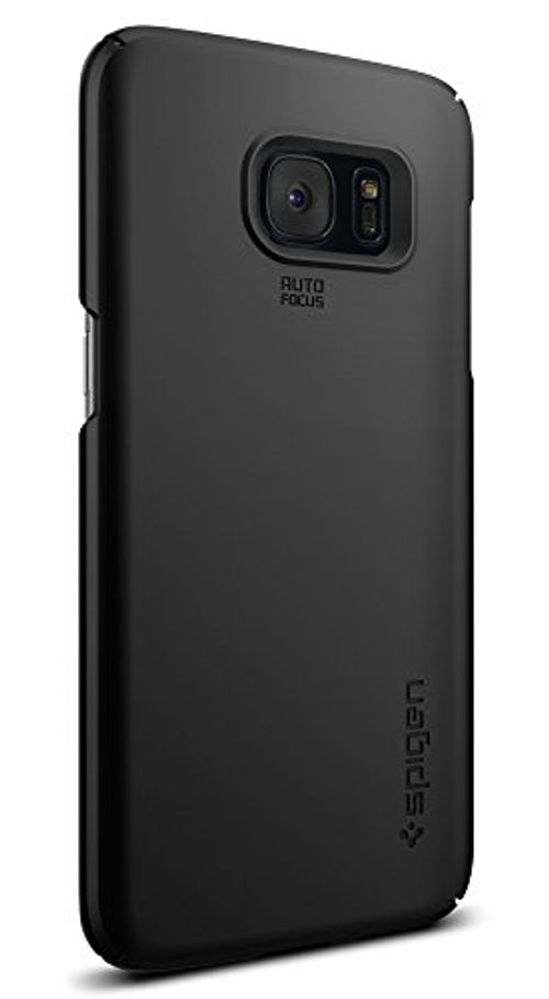 photo Wallpaper of Spigen-Samsung Galaxy S7 Edge Hülle, Spigen® [Thin Fit] Passgenaues [Schwarz] Premium Hart PC-Einfarbig