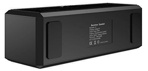 photo Wallpaper of SHARKK-SHARKK® Boombox Bluetooth Lautsprecher Tragbarer Stereo Lautsprecher Mit 18+ Stunden Spielzeit. 10W-Schwarz