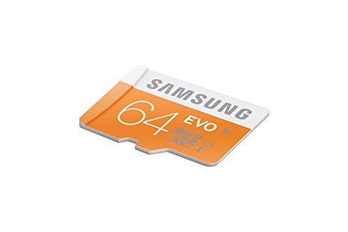 photo Wallpaper of Samsung-Samsung Memory 64GB EVO Micro SDXC UHS I Grade 1 Class 10 Speicherkarte Memory-Orange, Weiß