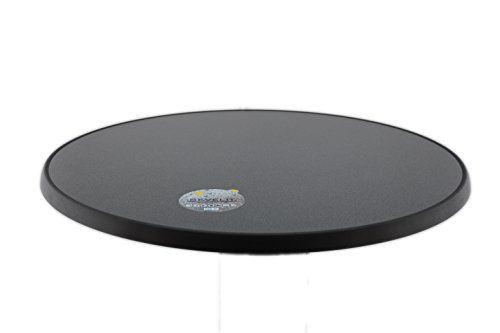 photo Wallpaper of Sevelit-Sevelit Tischplatte Punti Design, Rund, 850mm Durchmesser, Wetterfest, Schlagfeste Tischkante, Tischplatten Ideal-Silber