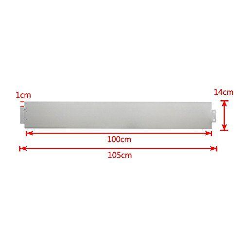 photo Wallpaper of MCTECH-MCTECH® 10 X Rasenkante Metall Verzinkt Beetumrandung Beeteinfassung Mähkante, 14cm Hoch, 100cm Lang (10m)-