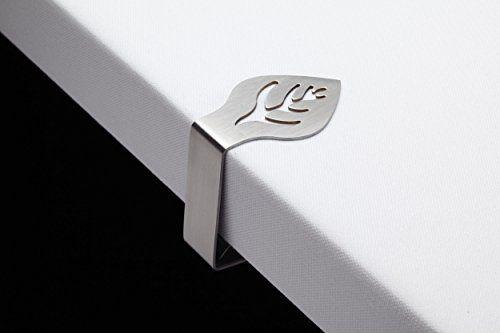 photo Wallpaper of Kitchen Craft-Kitchen Craft Tischdeckenbeschwerer Aus Edelstahl, Blatt Motive, 4er Set-Edelstahl
