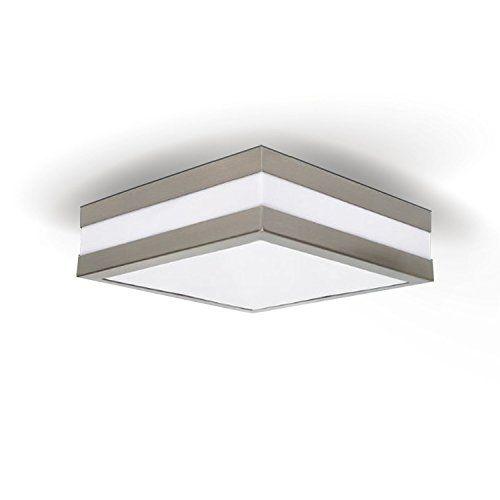 photo Wallpaper of JVS-PROVANCE IP44 E27 Decken Wandleuchte Deckenlampe Wandlampe Für LED &-Quadratisch