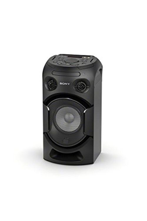 photo Wallpaper of Sony-Sony MHC V21D Leistungsstarkes 1 Komponenten Musiksystem Mit Lichteffekten, Verbindung über Bluetooth/NFC,-Schwarz
