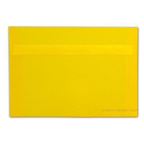 photo Wallpaper of Neuser-50x Briefumschläge Transparent Gelb//DIN C5//162 X 229 Mm//Cromático, Ca.®-Gelb