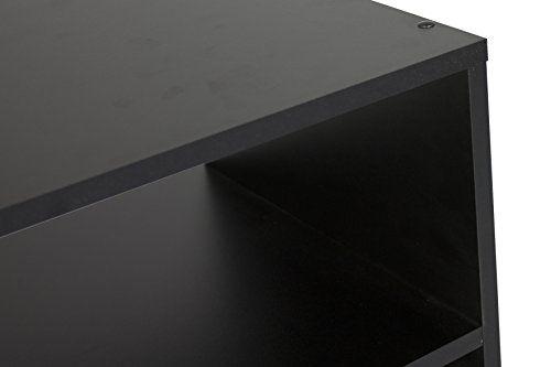 photo Wallpaper of CAVADORE-CAVADORE TV Stand VANCOUVER/TV Regal In Schwarz 90 Cm Breit/Modernes Regal Für-Schwarz Dekor