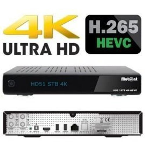 photo Wallpaper of Unbekannt-Mutant HD51 Hevc 265 Ultra HD 4K 2160p Linux E2 1x-2TB