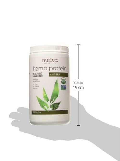 photo Wallpaper of Nutiva-Nutiva Organic Hemp Protein Hi Fiber, 16 Ounce-