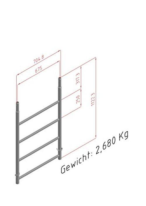 photo Wallpaper of Altec-ALTEC Rollfix 1m Vertikalrahmen Erweiterung 1 Stk-