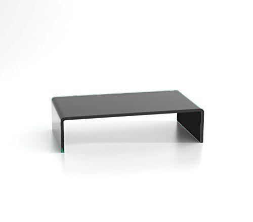 photo Wallpaper of DURATABLE-DURATABLE® TV Glasaufsatz Glastisch LCD Tisch Aufsatz Monitorerhöhung Fernsehtisch Glas-Schwarz