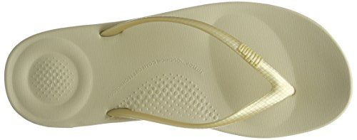 photo Wallpaper of FitFlop-FitFlop Damen Iqushion Ergonomic Flip Flops Peeptoe Sandalen, Goldfarben, 42-Goldfarben