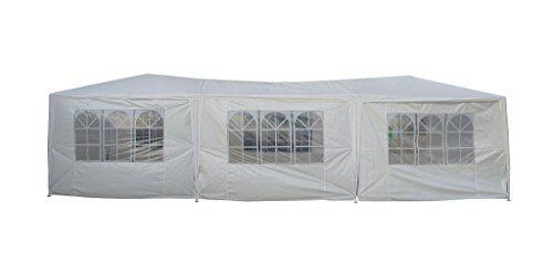 photo Wallpaper of Duhome Elegant Lifestyle®-Festzelt 9x3 M Partyzelt Mit 8 Seitenwänden Weiß Gartenzelt Wasserabweisend Pavillon-Weiß