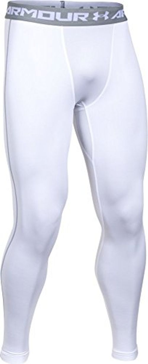 photo Wallpaper of Under Armour-Under Armour Ua Cg Armour Leggings Herren Fitness   Hose, Weiß-Weiß (White/Steel)