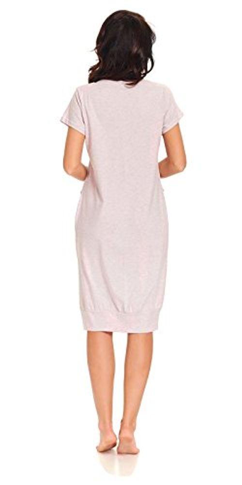 photo Wallpaper of dn-nightwear-Dn Nightwear DN, Nachthemd, TM.9300, Pink Grey, Gr. XXL-Pink-grau