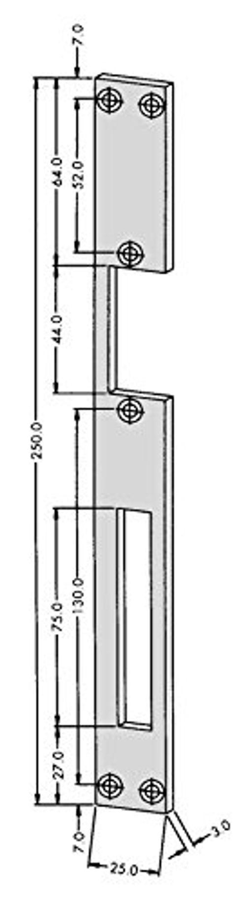 photo Wallpaper of Bever-Elektrischer Türöffner PESO 300 GA Mit Flachschließblech Und Entriegelungshebel, 6-